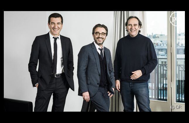 Matthieu Pigasse, Pierre-Antoine Capton et Xavier Niel.