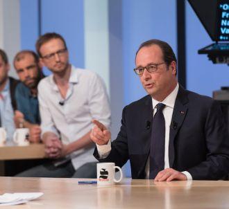 François Hollande sur le plateau du 'Supplément' de...