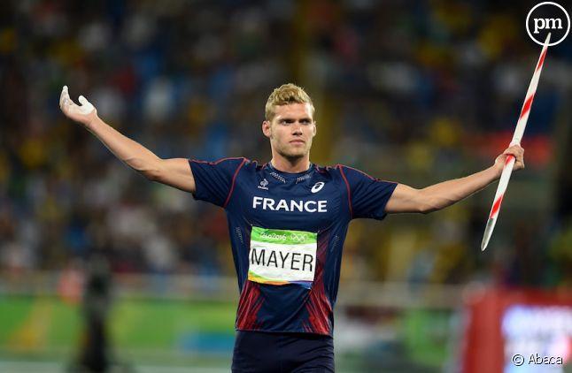 Kevin Mayer, médaillé d'argent en décathlon