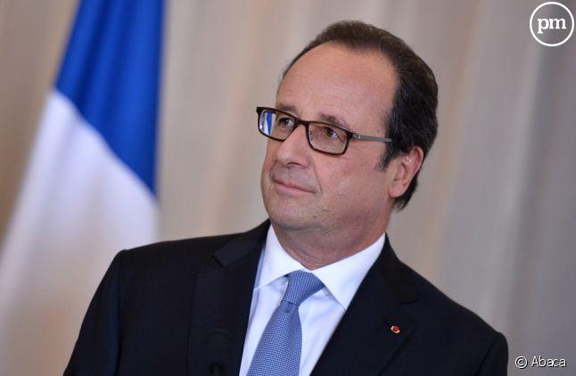Frnaçois Hollande, très bavard avec les journalistes.