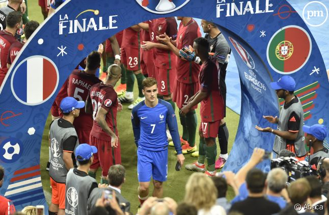 <span>Antoine Griezmann après la finale de l'Euro</span>
