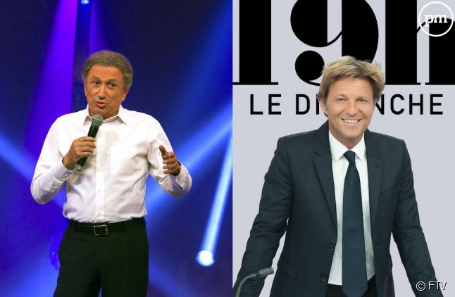 Michel Drucker et Laurent Delahousse
