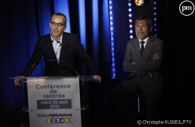 Thierry Langlois (à gauche)