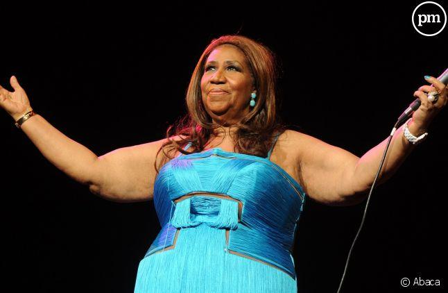 Aretha Franklin sur scène en 2012