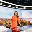 Anne-Claire Coudray sur le plateau du nouveau JT de TF1