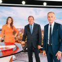 Anne-Claire Coudray, Jean-Pierre Pernaut et Gilles Bouleau sur le plateau du nouveau JT de TF1