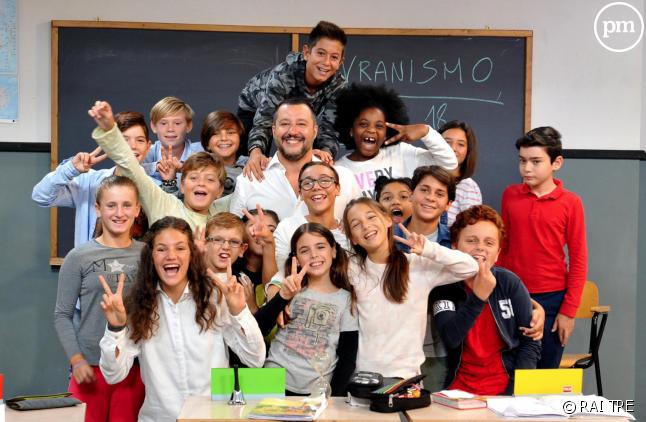 "Matteo Salvini dans ""Alla Lavagna !"""