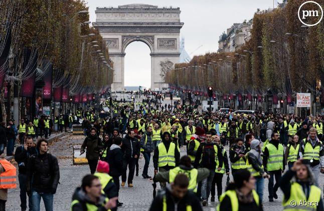 Les Gilets jaunes hier sur les Champs-Elysées