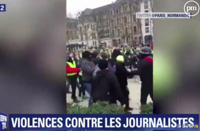 De nombreux journalistes ont été pris pour cible ce samedi