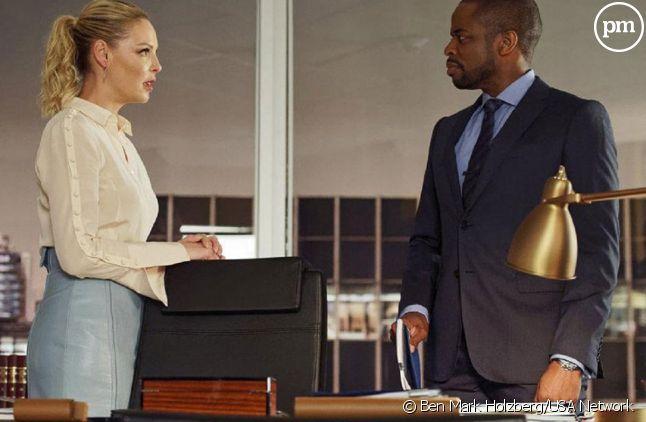 """Katherine Heigl et Dule Hill dans """"Suits"""""""