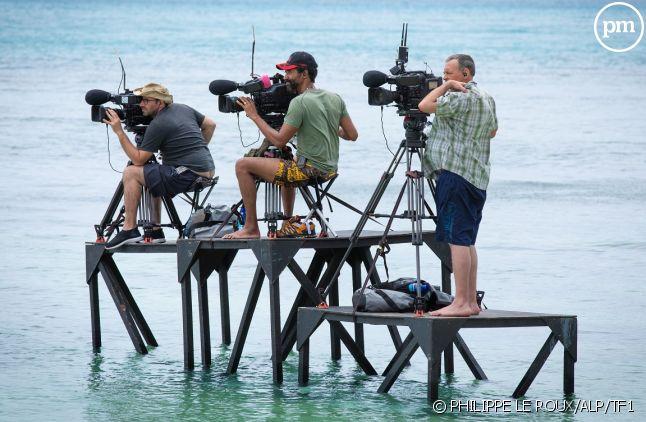 """Des cameramen à l'oeuvre sur le tournage de """"Koh-Lanta"""""""