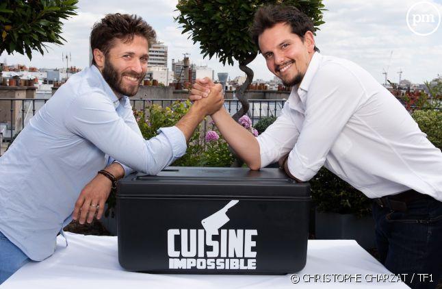 """Julien Duboué et Juan Arbelaez dans """"Cuisine impossible"""""""
