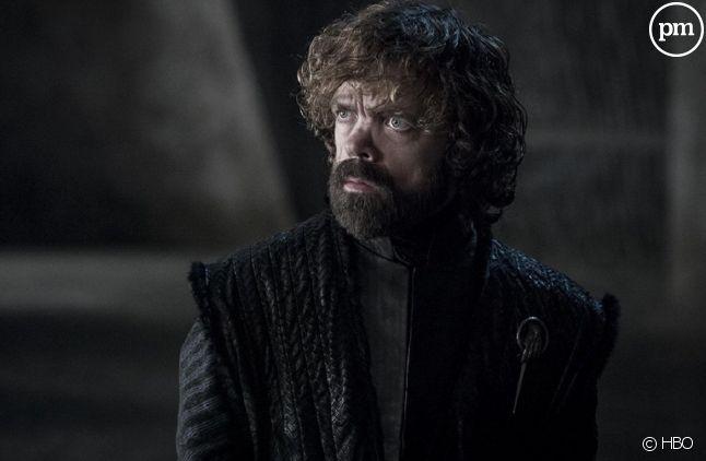 """Tyrion Lannister (Peter Dinklage) apprenant que la fin de """"Game of Thrones"""" est repoussée en Chine"""