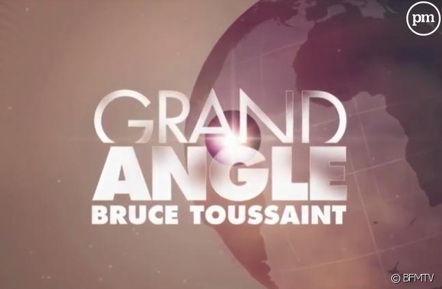 "Bruce Toussaint anime ""Grand Angle"" sur BFMTV"