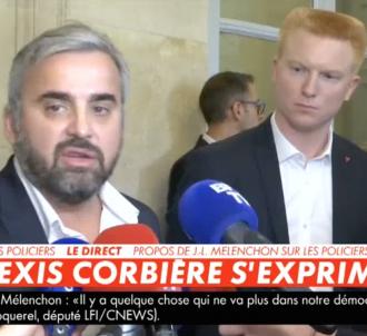 Alexis Corbière vent debout contre les médias.