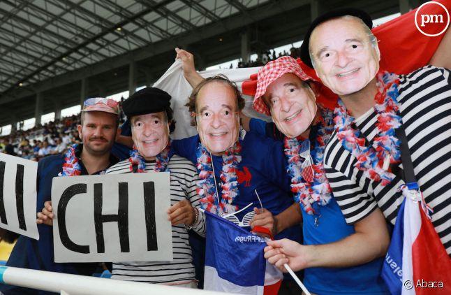 Des supporters français durant France/États-Unis