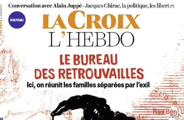 """Détail de la couverture du premier numéro de """"La Croix L'Hebdo"""""""
