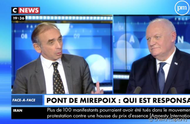 """Eric Zemmour et François Asselineau dans """"Face à l'info"""" sur CNews"""
