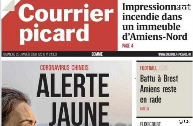 """A la Une du """"Courrier Picard"""" du 26 janvier"""