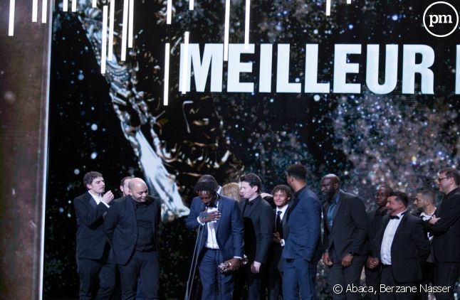 """Ladj Ly et l'équipe du film """"Les misérables""""."""