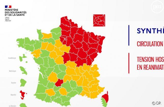 Carte des régions, au 30 avril 2020.