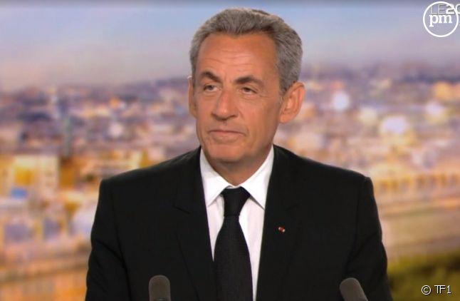 """Nicolas Sarkozy invité du """"20 Heures"""" de TF1."""