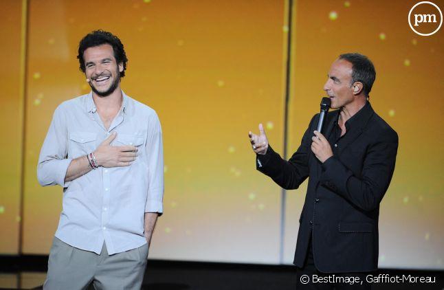 Amir Haddad et Nikos Aliagas.