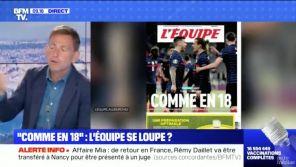 """""""Comme en 18"""" : La Une de """"L'Equipe"""" surprend Bruce Toussaint et Daniel Riolo sur BFMTV"""