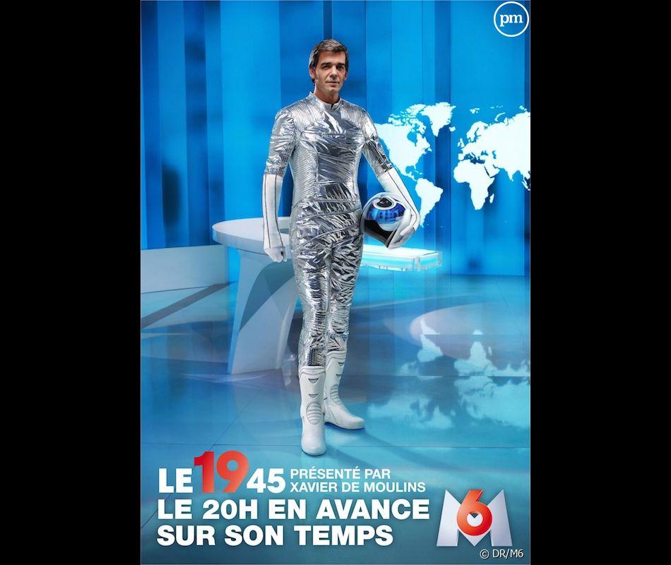 Xavier de Moulins pour la nouvelle campagne de pub du 19.45