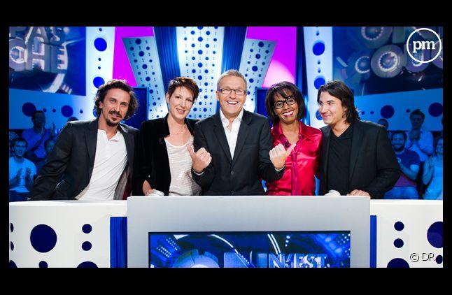 Arnaud Tsamère, Audrey Pulvar, Jérémy Ferrari, Laurent Ruquier et Natacha Polony.