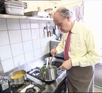 Frédéric Mitterrand à 'Un dîner presque parfait', le 23...