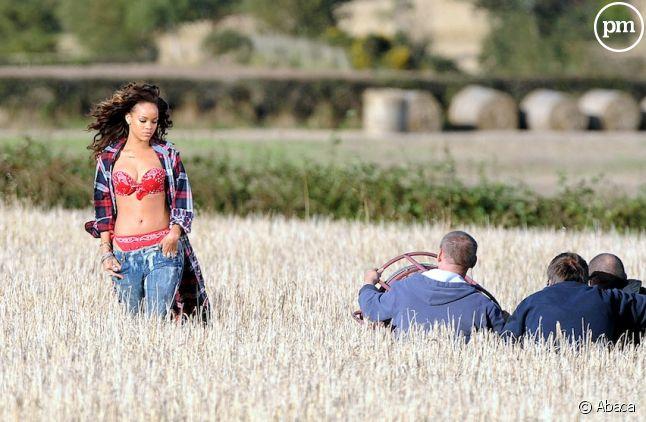 """Rihanna sur le tournage du clip """"We Found Love"""""""