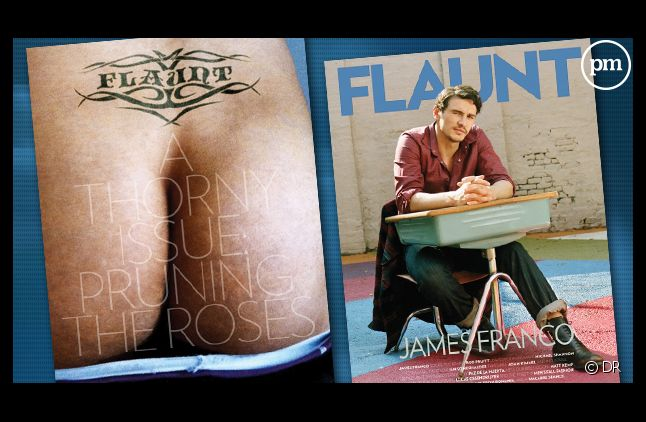 "Le magazine ""Flaunt"" avec James Franco."