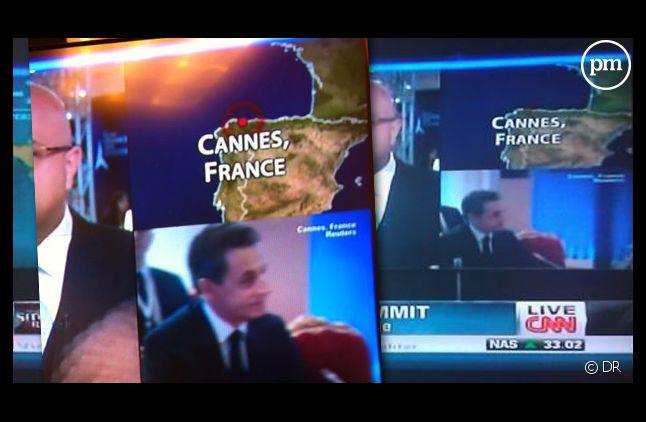 CNN place la ville de Cannes... en Espagne.