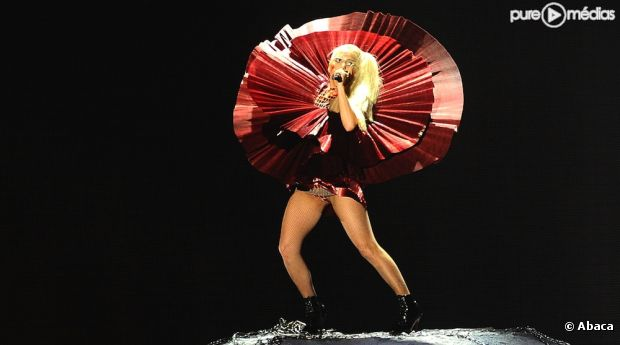 Lady Gaga lors des MTV Europe Music Awards 2011