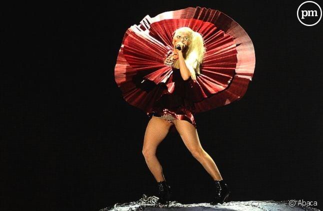 Lady Gaga lors des MTV Europe Music Awards 2011