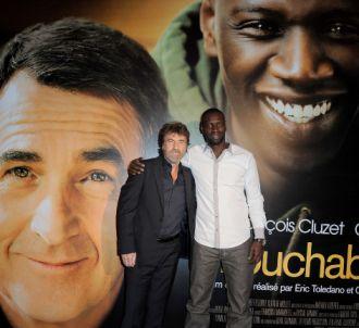 Omar Sy et François Cluzet à une projection du film...