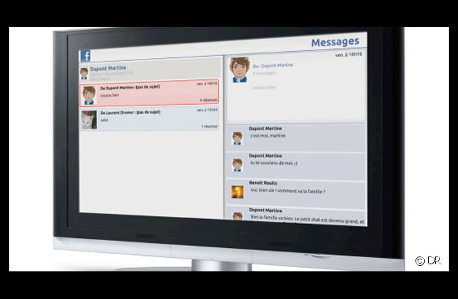 L'application Facebook sur la Freebox.