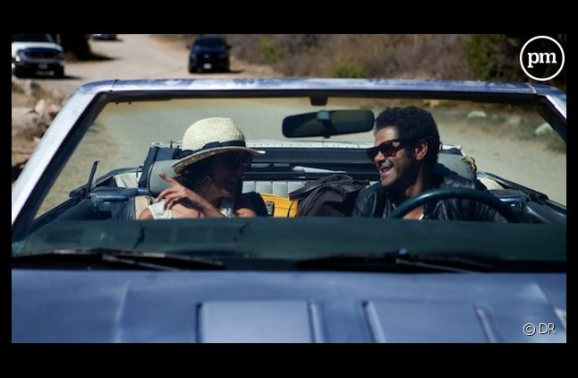 """Florence Foresti et Jamel Debbouze réunis dans le film """"Hollywoo"""" sorti en décembre 2011"""