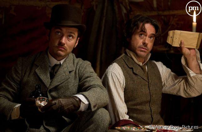 "Robert Downey, Jr. et Jude Law dans ""Sherlock Holmes 2 : Jeu d'ombres"""
