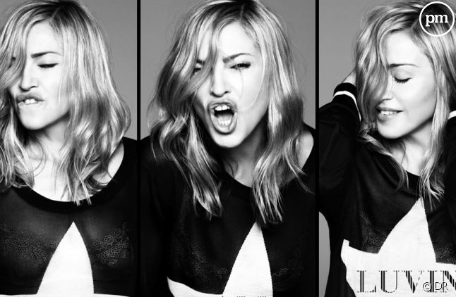 "Madonna sur la pochette de ""Give Me All Your Luvin"""