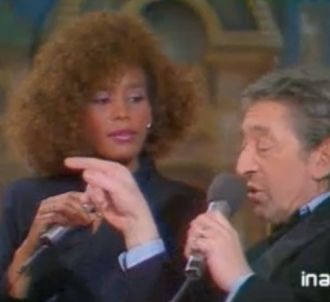 Michel Drucker reçoit Whitney Houston et Serge Gainsbourg.