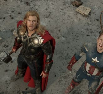 Chris Hemsworth et Chris Evans dans 'Avengers'