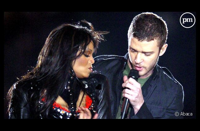 Janet Jackson et Justin Timberlake lors de la finale du Superbowl en 2004