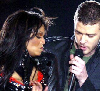 Janet Jackson et Justin Timberlake lors de la finale du...