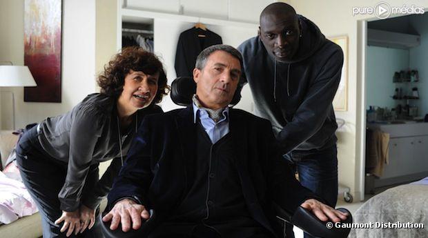 """Scène du film """"Intouchables"""" avec François Cluzet et Omar Sy"""