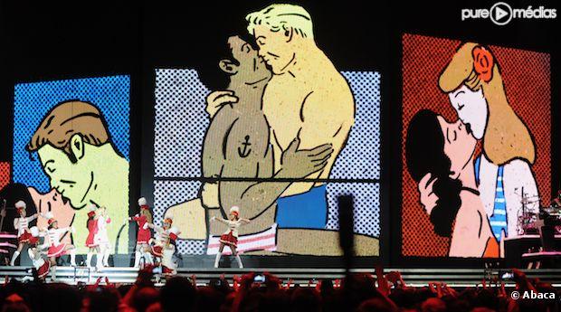 Madonna sur scène à Moscou