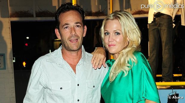Luke Perry et Jennie Garth en août 2012