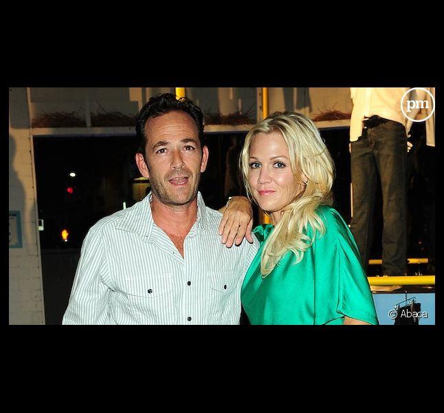 Luke Perry et Jennie Garth en août 2012