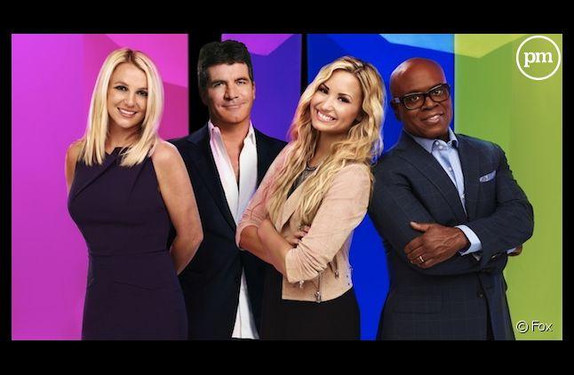 """Britney Spears, Simon Cowell, Demi Lovato et L.A. Reid, jurés de """"The X Factor"""" saison 2"""